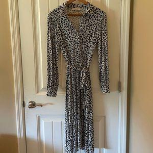 LOFT Cheetah Print T-shirt Dress